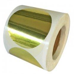20 Etiquetas adhesivas redondas de papel, 6 cms. Varios colores