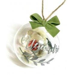 Bola de Navidad, personalizada. Disponible en 2 medidas