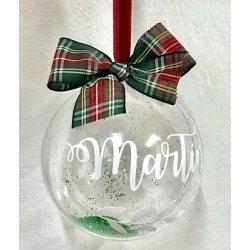Bola de Navidad personalizada. Lazo escocés,