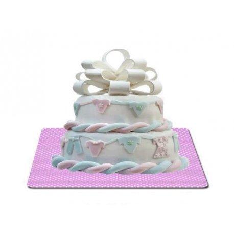 Base rosa para tartas.