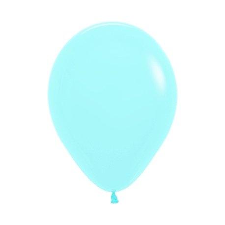 10 Globos 30 cms. Azul pastel