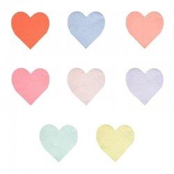 20 Servilletas de papel, corazón pastel. Pastel heart de Meri Meri