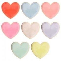 8 Platos de papel, corazón pastel. Pastel heart de Meri Meri