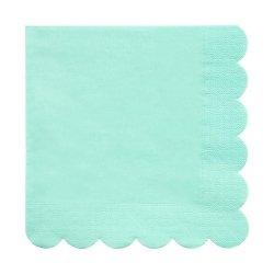 20 Servilletas de papel Mint, festoneadas