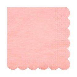20 Servilletas de papel Coral, festoneadas