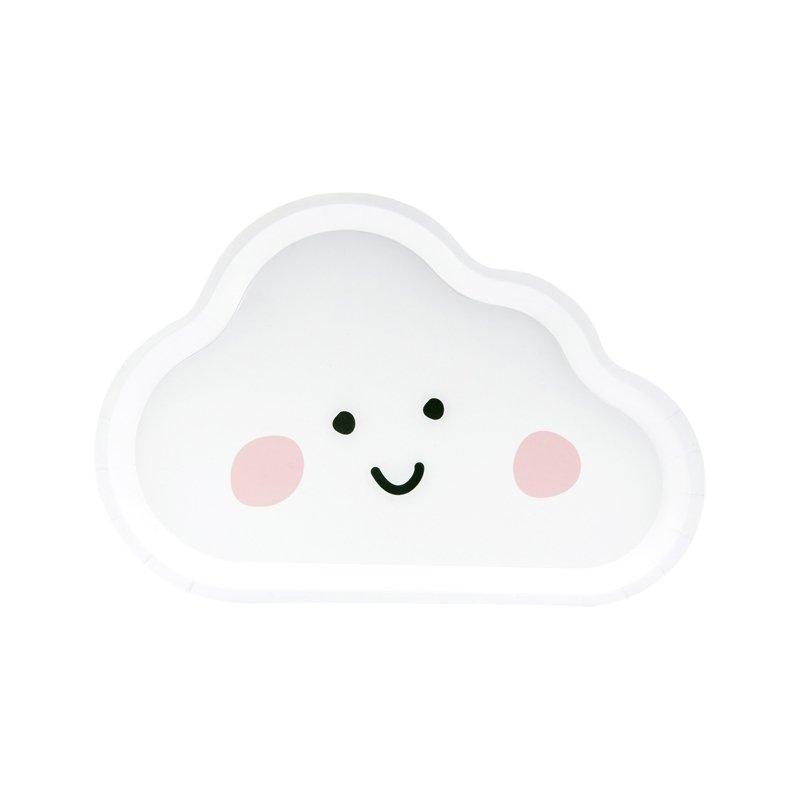 6 Platos de papel en forma de Nube