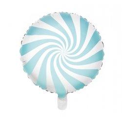 Globo metalizado Caramelo Azul Claro