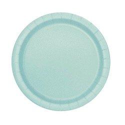 Platos de papel, Mint-verde agua. Disponibles en 2 tamaños