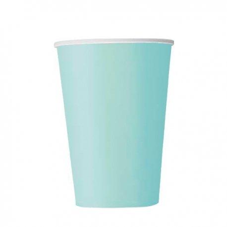 14 Vasos de papel, Mint-verde agua