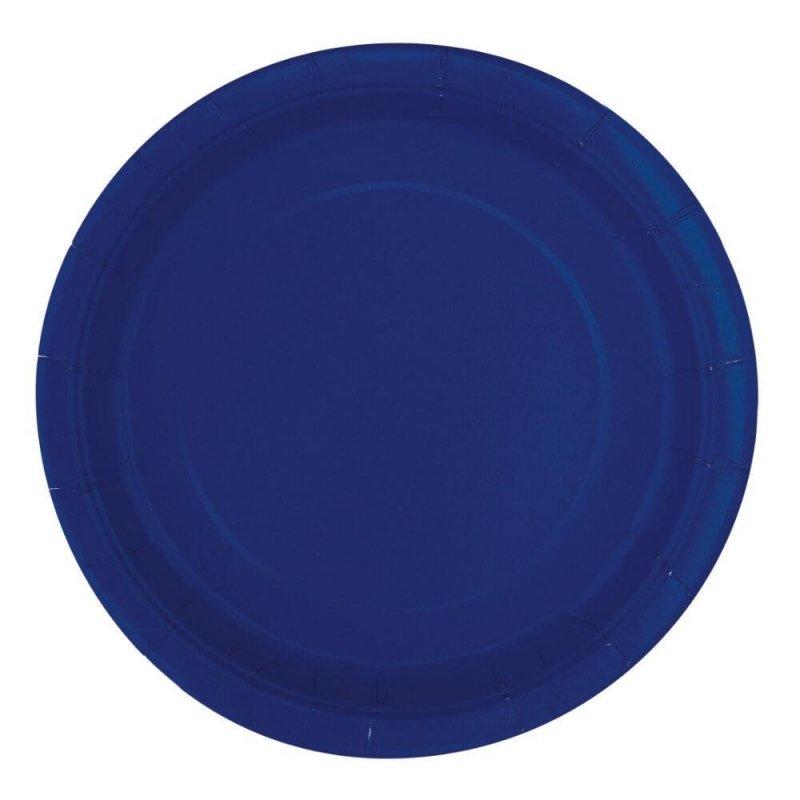 20 Platos de papel Azul Marino. Disponibles en 2 tamaños