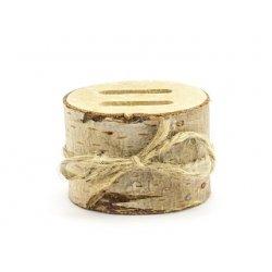 Porta alianzas tronquito de madera