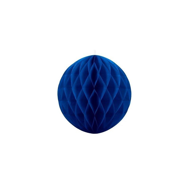 Bola nido de abeja, azul añil, 20 cms