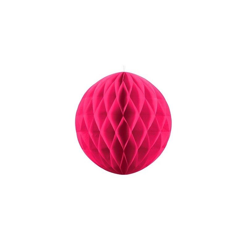 Bola nido de abeja rosa fucsia 20 cms.