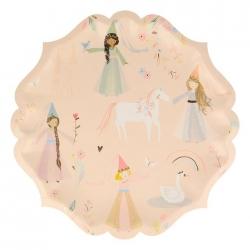 8 Platos de 23 cms, Fiesta de Princesas/Unicornio, de Meri Meri Party