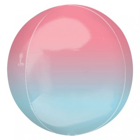 Globo órbita degradado azul y rosa