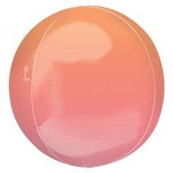 Globo órbita degradado naranja y rosa