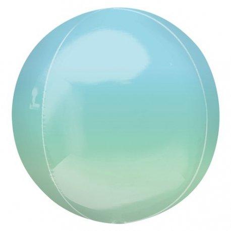 Globo órbita degradado azul y verde / mint