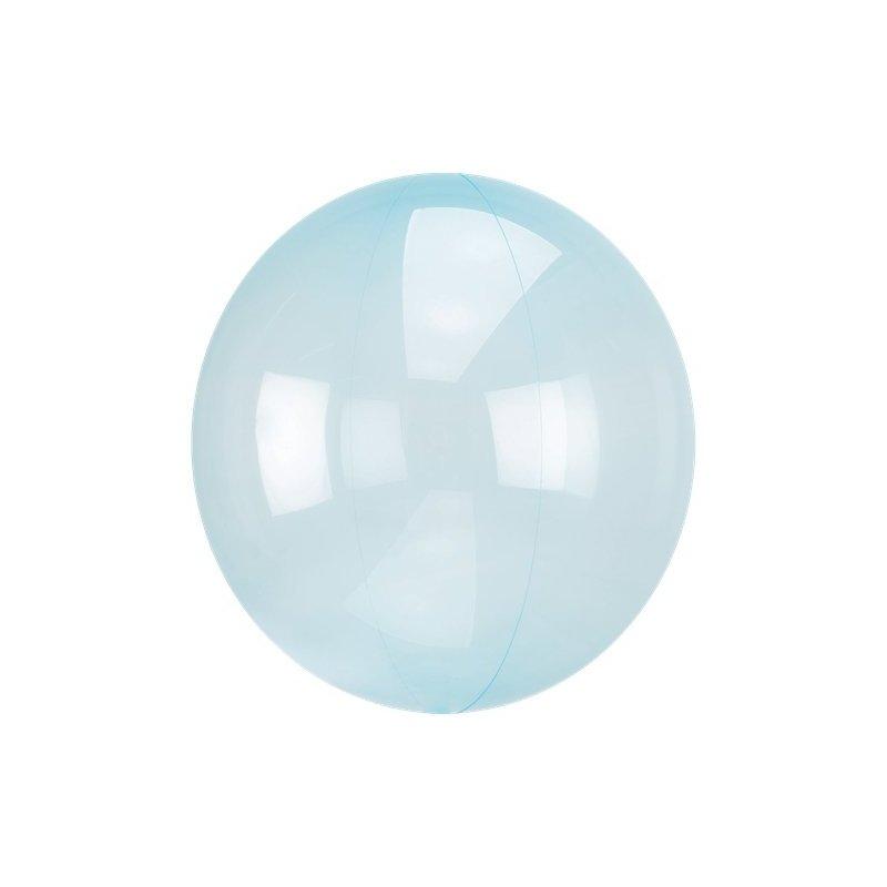 Globo burbuja transparente azul. Aprox 60 cms.