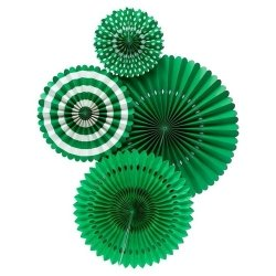 Set de 4 abanicos-molinillos verdes