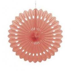Abanico de papel Coral. 40 cms