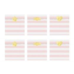 6 Sobres/bolsas de papel rayas Yummy Rosa con pegatinas
