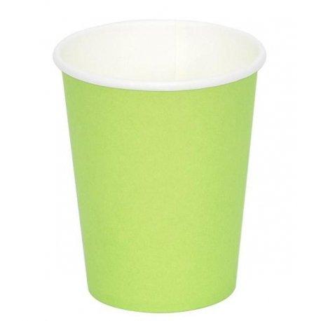 12 Vasos de papel pistacho