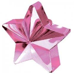 Peso para globos. Estrella rosa