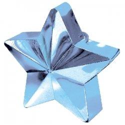 Peso para globos. Estrella azul