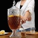Alquiler de Dispensador de cristal tallado clásico, de bebidas con grifo. 4.5 litros.
