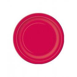 20 Platos de papel Rojo. Disponibles en 2 tamaños