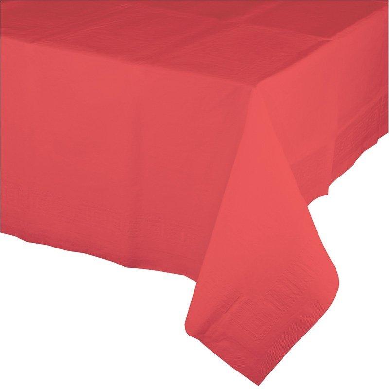 Mantel de papel Coral 1.37x2.74 m