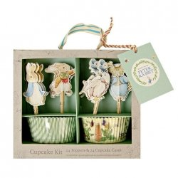 Kit para 24 cup cakes Peter Rabbit.