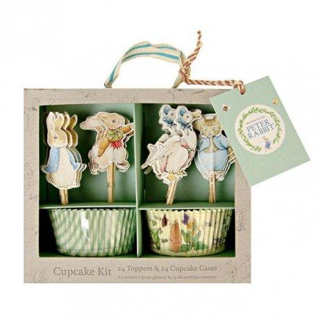Kit para 24 cup cakes Peter Rabbit.