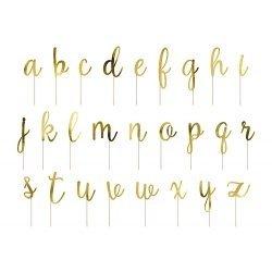 53 Topper Letras doradas. Abecedario