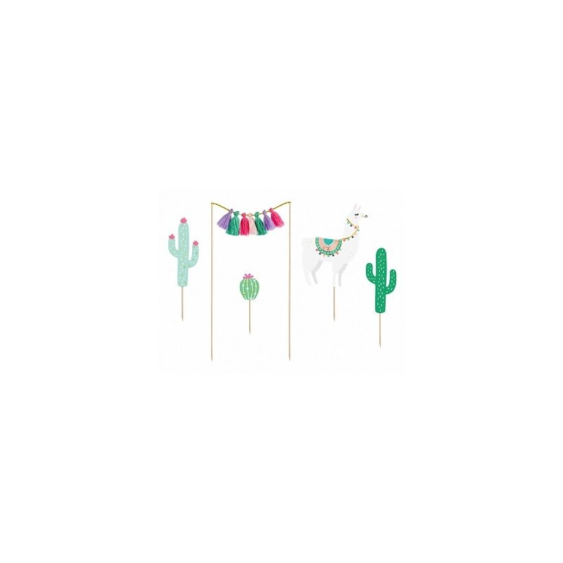 Toppers Cactus / LLama. Toppers para tarta y Candy Bar