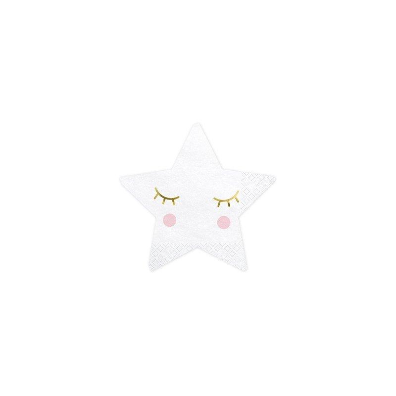 20 Servilletas de papel, Estrella con carita