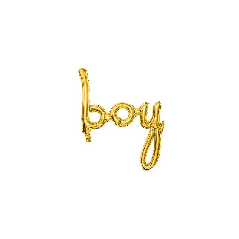 Globo palabra Boy, oro