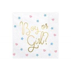 20 Servilletas de papel, Boy or Girl?