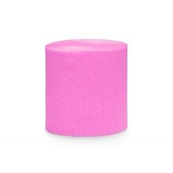 4 Rollos de cinta de papel crepé Rosa fucsia