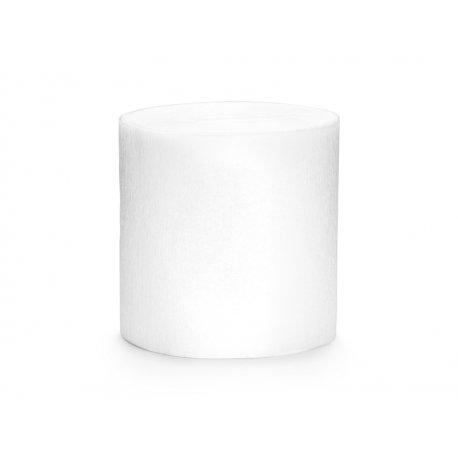 4 Rollos de cinta de papel crepé Blanca