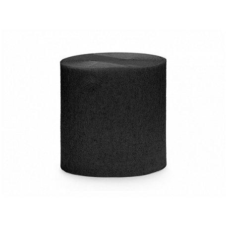4 Rollos de cinta de papel crepé Negro