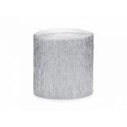 4 Rollos de cinta de papel crepé Plata