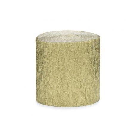 4 Rollos de cinta de papel crepé Dorada