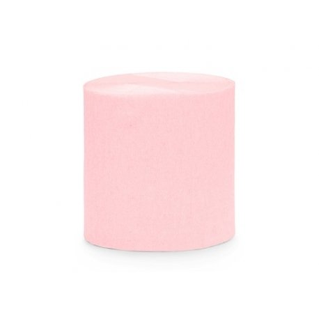 4 Rollos de cinta de papel crepé Rosa Clarito