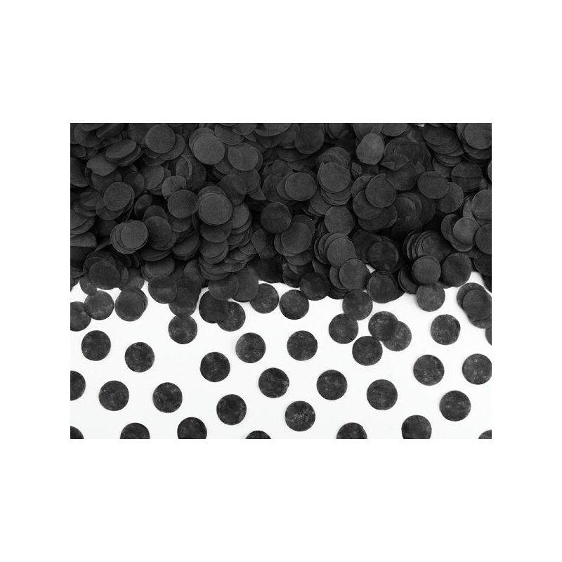 15 Grs de Confeti redondo negro