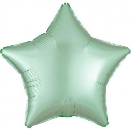 Globo metalizado estrella mint. 48 cms