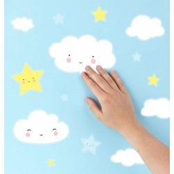 Pegatinas vinilicas para la pared. Nubes y Estrellas
