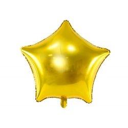 Globo metalizado estrella dorada. 81 cms