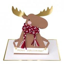 Tarjeta de felicitación navideña, reno cristhmoose