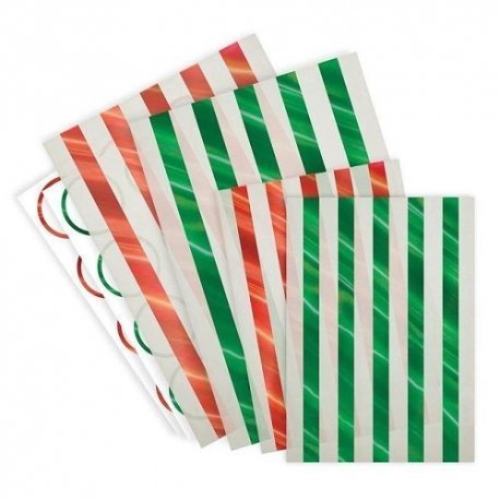 24 bolsas-sobres rayitas navideñas